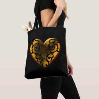 Mit Filigran geschmücktes Goth Goldherz Tasche