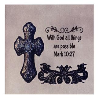 Mit Gott sind alle Sachen möglich Acryl Wandkunst
