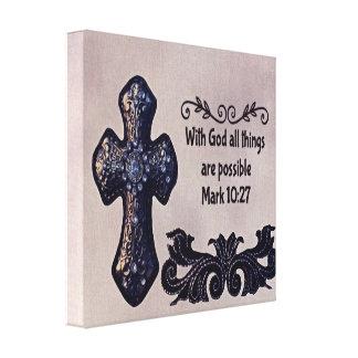 Mit Gott sind alle Sachen möglich Leinwanddruck
