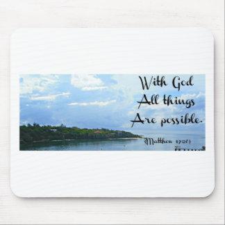Mit Gott sind alle Sachen möglich. Matthew-19:26 Mousepad