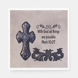 Mit Gott sind alle Sachen möglich Papierserviette