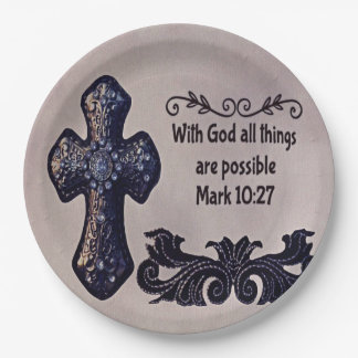 Mit Gott sind alle Sachen möglich Pappteller