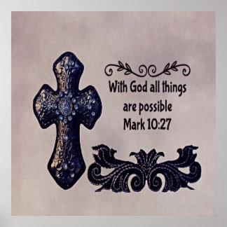 Mit Gott sind alle Sachen möglich Poster