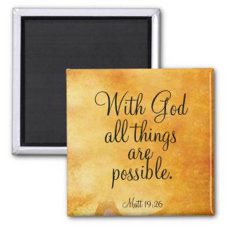 Mit Gott sind alle Sachen möglich Quadratischer Magnet