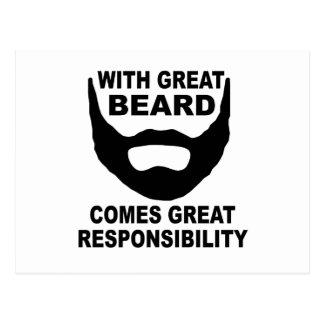 Mit großem Bart kommt große Verantwortung Postkarte