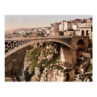 Mit großer Brücke Constantine, Algerien Postkarte