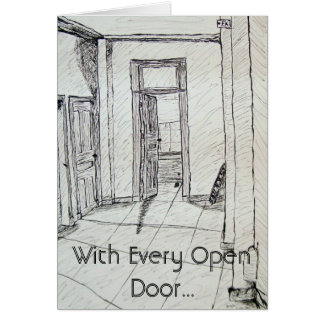 Mit jeder offenen Tür… Karte