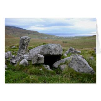 Mit Kammern versehener Steinhaufen, Barra Grußkarte
