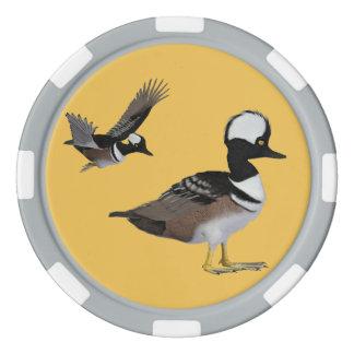 Mit Kapuze Merganser-Poker-Chips Poker Chip Set