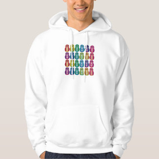 Mit Kapuze Sweatshirt - niedliche Regenbogen
