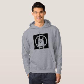 Mit Kapuze Sweatshirtmänner der weißen Eule grau Hoodie