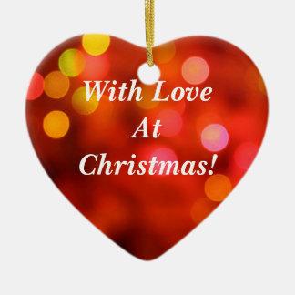 Mit Liebe am Weihnachten! Keramik Ornament