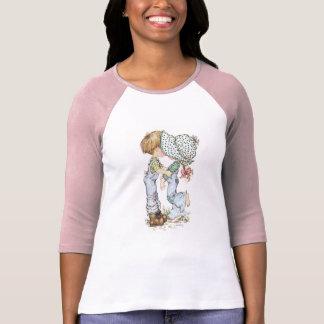 """""""Mit Liebe"""" ¾ Hülseraglan-T - Shirt-Rosa T-Shirt"""
