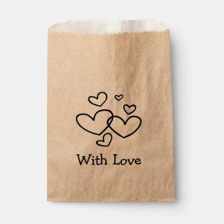 Mit Liebe-Schwarz-Herzen Wedding/Party Geschenktütchen