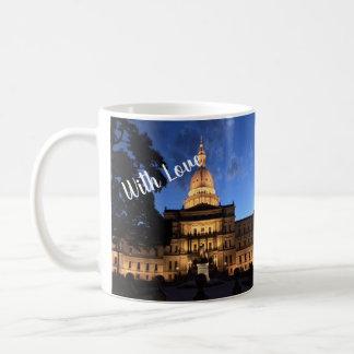 Mit Liebe von Lansing-Tasse Kaffeetasse
