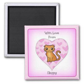 Mit Liebe von Skippy 2 Zoll-Quadrat-Magnet Quadratischer Magnet