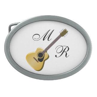 Mit Monogramm Akustikgitarre Ovale Gürtelschnallen