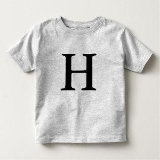 Mit Monogramm Anfangst-shirt des Buchstaben H Kleinkind T-shirt