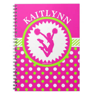 Mit Monogramm Beifall/Pom rosa und grüne Notizblock
