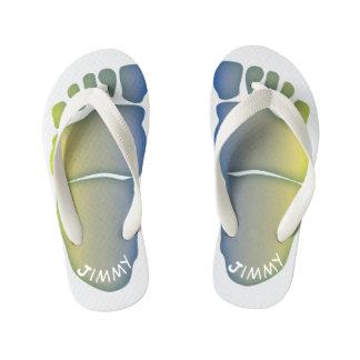 Mit Monogramm Bigfoot-Abdrücke Kleinkind u. Kinder Kinderbadesandalen