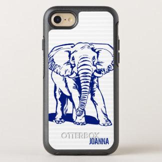 Mit Monogramm blauer Elefant OtterBox Symmetry iPhone 8/7 Hülle