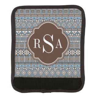 Mit Monogramm blaues Stammes- Muster Browns Gepäckgriff Marker
