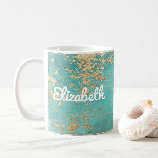 Mit Monogramm eleganter Imitat-GoldChic Kaffeetasse