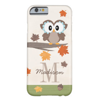 Mit Monogramm Fall-Eule Barely There iPhone 6 Hülle