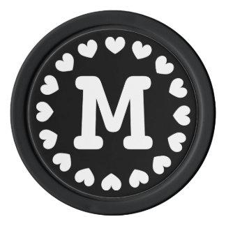 Mit Monogramm Gastgeschenk Hochzeits-Pokerchip   Poker Chip Set