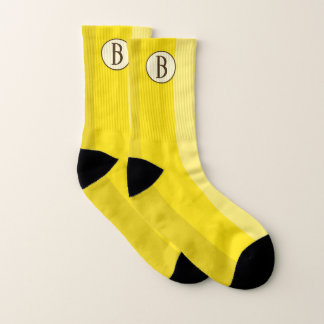 Mit Monogramm gelbe Bananen-Socken Socken