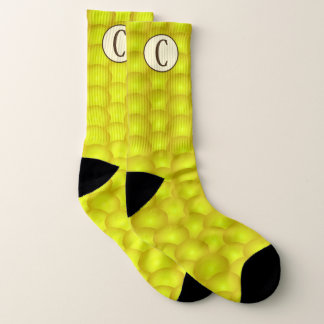 Mit Monogramm gelbe Maiskörner-blöde Socken
