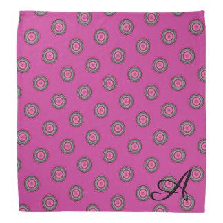 Mit Monogramm heißes Rosa-Polka-Punkt-Muster Kopftuch
