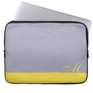 Mit Monogramm Lavendel-Zitronen-Laptop-Hülse