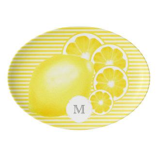 Mit Monogramm Limonade-Stand-Servierplatte Porzellan Servierplatte