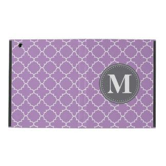 Mit Monogramm marokkanisches Gitter in der Etui Fürs iPad