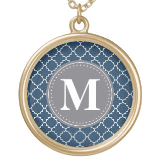 Mit Monogramm marokkanisches Gitter in der Vergoldete Kette
