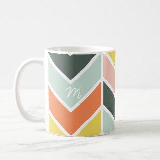 Mit Monogramm | nettes Zickzack durch Origami Kaffeetasse