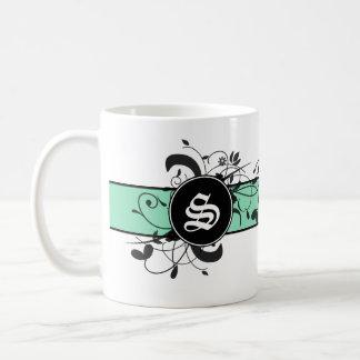 Mit Monogramm personalisiertes viktorianisches Kaffeetasse