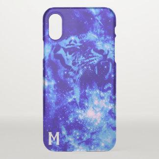 Mit Monogramm Raum-Tiger iPhone X Hülle