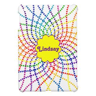 Mit Monogramm Regenbogen-Polka-Punkte MiniiPad Fal iPad Mini Hülle