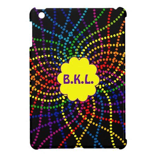 Mit Monogramm Regenbogen-Polka-Punkte MiniiPad Fal iPad Mini Etui