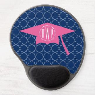 Mit Monogramm rosa Abschluss-Kappe + Marine Gel Mouse Matte