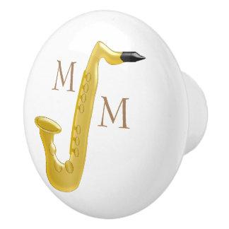 Mit Monogramm Saxophone Keramikknauf