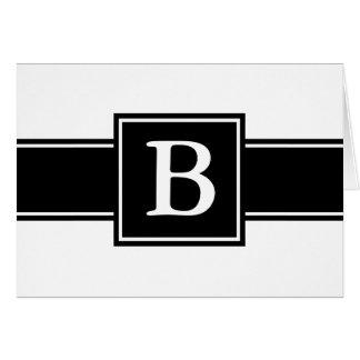 Mit Monogramm schwarzes u. weißes Karte