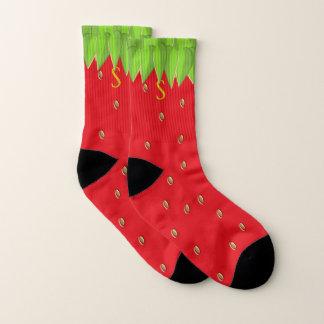 Mit Monogramm Sommer-Erdbeersocken Socken