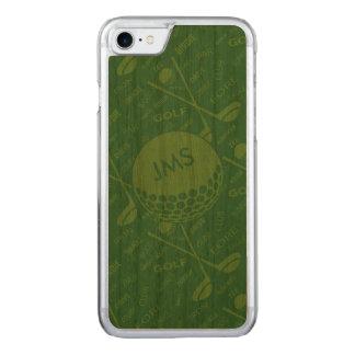 Mit Monogramm subtiles Golfspieler-Muster Carved iPhone 8/7 Hülle