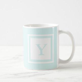 Mit Monogramm Tasse - Blau u. Weiß