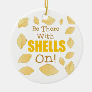 Mit Muscheln an Rundes Keramik Ornament