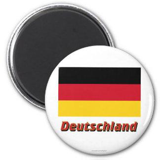 MIT Namen Deutschland Flagge Magnete
