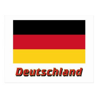 MIT Namen Deutschland Flagge Postkarte